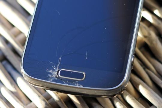 L'écran fissuré du Samsung Galaxy S4 Zoom